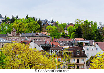 Panoramic view of Baden Baden in Germany - Panoramic view of...