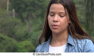 Hispanic Teen Girl Dancing