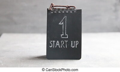 Startup Business idea - Startup Business, vintage style, tag...