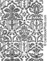 21 - Abstract hand-drawn floral pattern, vintage background....