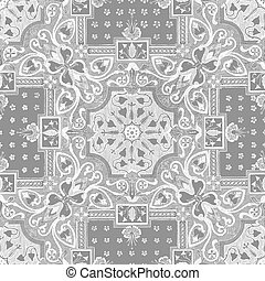36 - Abstract floral mosaic tile vintage ornament seamless