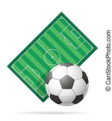 football soccer stadiun field vector illustration isolated...