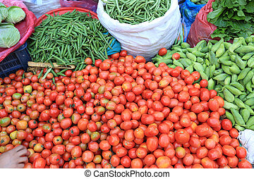 fresh vegetables selling at the street shop
