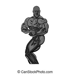 bodybuilding, fitness concept, vector illustration