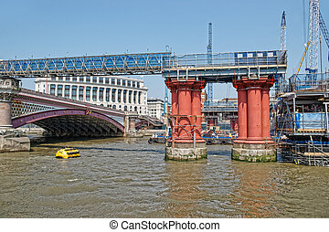 Blackfriars Bridge in London in UK - Blackfriars Bridge in...