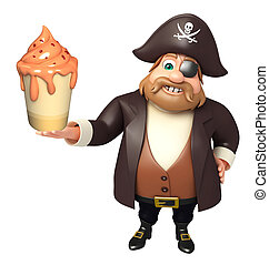 Pirate with Ice cream