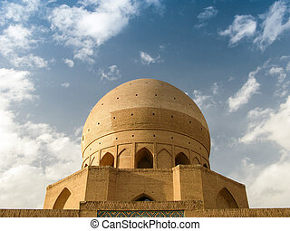 Dome of Agha Bozorg Madrasa and Mosque, Kashan Iran - Dome...
