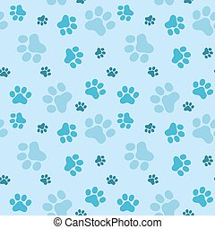 Pattern of animals paws
