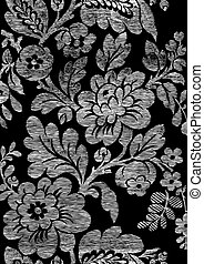 2 - Abstract hand-drawn floral seamless pattern, vintage...