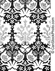 21 - Abstract hand-drawn floral seamless pattern, vintage...