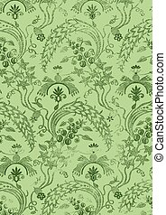 19 - Abstract hand-drawn floral seamless pattern, vintage...