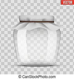 Glass Jar for canning and preserving. With cloth cover....