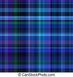 Seamless Blue Check Fabric - A tartan plaid design which can...