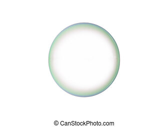 Soap bubble - A beautiful soap bubble isolated over a white...