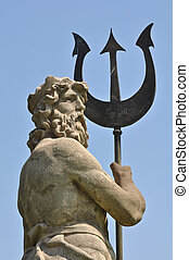 Poseidon with Triton from Atlantis in Barcelona Spain