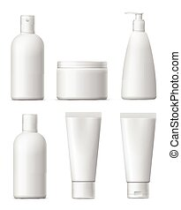 Blank cosmetic package set.