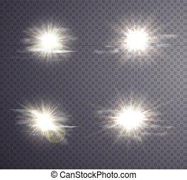 Abstract white sun flare. - Abstract white sun flare,...