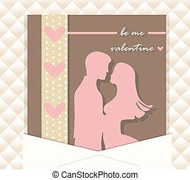 Valentine Day couple card