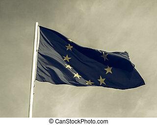 Vintage looking Flag of Europe