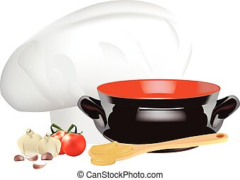 ingredients and cooking utensils - ingredients and utensils...