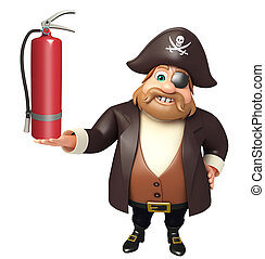Pirate with fire extinguisher