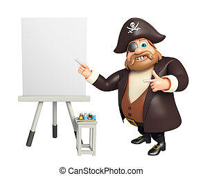 Pirate with Easel board