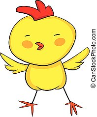 cute  cartoon yellow baby rooster