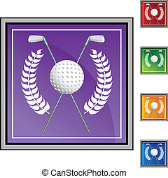 Golf Wreath