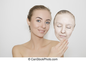 get away old skin - woman romoving old skin from her fsce