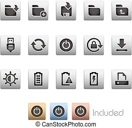 Interface Icons 3 - Metalbox Series - The .eps file includes...