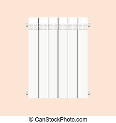 Aluminium radiator vector illustration isolated on white