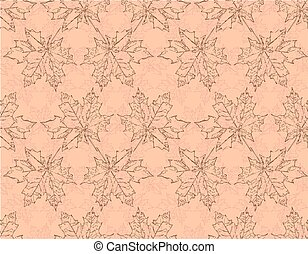 Image seamless pattern of falling maple leaves.