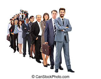 Large group of businesspeople - Business group in a row...