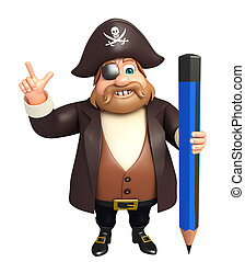 Pirate with Pencil