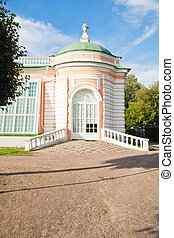 old palace in a summer park - beautiful old palace in a...