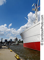 HAMBURG, GERMANY - JULY 18, 2015: MS Cap San Diego is a...