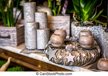 Christmas flower shop