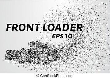 Front loader from the particles. Front loader consists of...