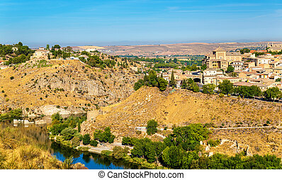 View of Toledo above the Tagus River in Spain. UNESCO...