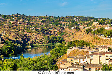 The Tagus River in Toledo, Spain - The Tagus River, the...
