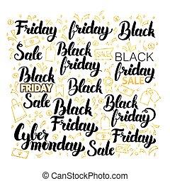 Black Friday Lettering Design. Vector Illustration of...