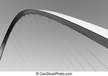 Gateshead Millenium Bridge in Black and White and Landscape...