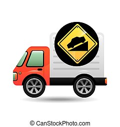 steep traffic sign concept vector illustration eps 10