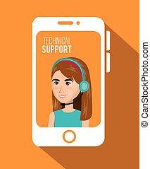 technical support service icon vector illustration design