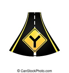 fork road sign concept graphic