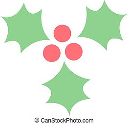 Christmas berry vector illustration. - European christmas...