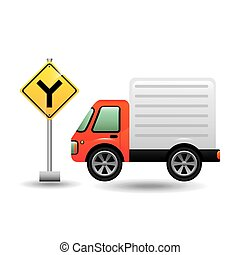 mini truck with fork road