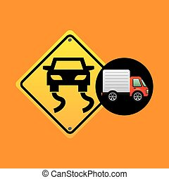 slippery traffic sign concept vector illustration eps 10