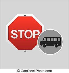van stop road sign design