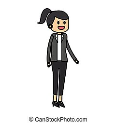 Isolated businesswoman design